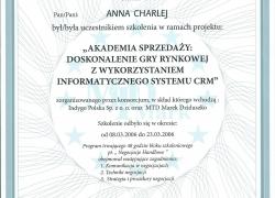 Certyfikat Zaświadczenie Uczestnictwa w Szkoleniu