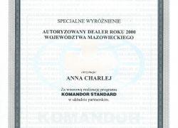 Certyfikat Komandor Standard