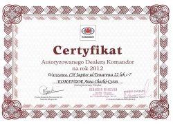 certyfikat 2012