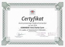certyfikat 2014